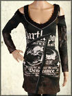 Salvage Vengeance Snake Skull Corset Womens Cold Shoulder Dress Top Black NEW XS