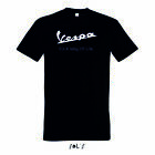 Vespa it's way of life T Shirt logo scooter rollers italia mens tee top quality