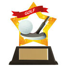 GOLF TROPHY with FREE ENGRAVING, Acrylic Mini Star Golfing Award