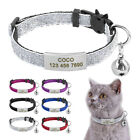 Sequins Kitten Kitty Pet Cat Breakaway Collar Slide On Tag Safety Quick Release