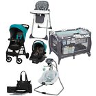 Baby Boy Combo Travel System Playard Stroller with Car Seat Chair Bag Bouncer