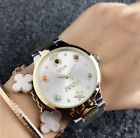 New Stainless Steel quartz Mother's Wristwatch Colored pearl Bear MAMA Watches image