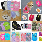 Pet Dog Cat Letter Printed Clothes Puppy Small Vest Tank T-Shirt Dress Tops