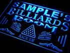 Personalized Billiards Pool room lighted Sign game room decor $33.56 USD on eBay