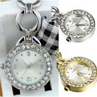 PW_ ALS_ Rhinestone Dial Stainless Steel Nurse Watch Brooch Tunic Fob Watch Qu