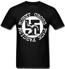 Burnt Cross T shirt Hardcore Punk Rock Ska Anarcho Antifa Antifascist