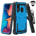 For Alcatel 3v 2019 Holster Belt Clip with Built In Screen Protector Case