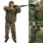 2 Pieces Ghillie Suit Woolland 3D Leaves Camo Camouflage Forest Hunting GDY7 01
