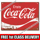 Metal Signs - ENJOY COCA COLA Retro Wall Plaque Mancave Vintage Kitchen Tin Sign