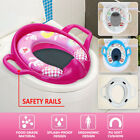 Baby Kids Toddler Toilet Seat Cover Padded Cushion Baby Bathroom Potty Training  image