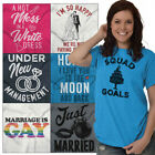 Wedding Brides Tee Shirt Grooms T Shirt For Mens Womens Fiance Engaged Tshirts