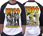 KISS T-shirt End Of The Road World Tour 2020 Leg 5 - 8 Complete Dates Raglan Tee image