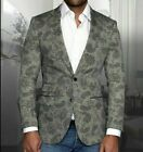 Mens INSOMNIA MANZINI Entertainer Event Sport Jacket Linen Blazer Paisley Gray
