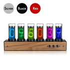 Retro Nixie Clock Inspired Modern Digital Gixie Clock 6-digit LED Shelf Clock