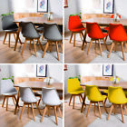 Used, Set of 4 Dining Chairs 6 Tulip Office Chair Retro Plastic Lounge Kitchen Wooden for sale  Shipping to South Africa