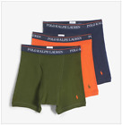 Polo Ralph Lauren 3 PACK Classic Fit Boxer Briefs, Orange Olive Navy M,XL