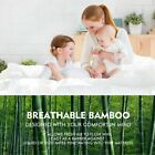 Luxury Mattress Protector Waterproof Bamboo Hypoallergenic Fitted Bed Cover Pad