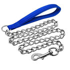 Heavy Duty Dog Leash Metal Dog Chain Leads with Soft Padded Handle for Large Dog