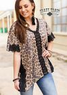 Crazy Train Leopard Lace Shelby Top
