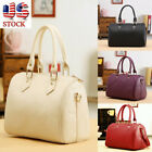 Women Leather Handbag Messenger Crossbody Satchel Girls Travel Tote Shoulder Bag image
