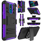 For LG Neon Plus(AT&T) Phone Case Shockproof Hybrid Holster Stand Rugged Cover