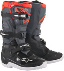 Alpinestars Youth Tech 7S MX Dirt Boots BLACK RED GREY