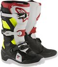 Alpinestars Youth Tech 7S MX Dirt Boots BLACK RED YELLOW