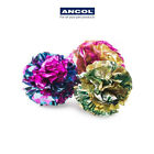 Ancol Cat Kitten Textured Crinkle Plastic Balls 3 Pack Toy Play Soft Fun