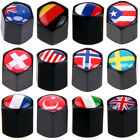 National Flag Pattern Car Valve Stems Caps Set Cover Dust Tire Wheel Anti-theft $9.29 USD on eBay