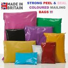 Coloured Mailing Bags Strong Polythene Postal Post Postage Mail Seal Plastic