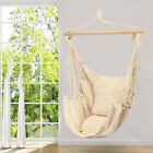 Deluxe Hanging Rope Tassel Hammock Chair Swing Garden Outdoor Camping With Soft