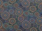 Aboriginal Circles in Brown 100% Cotton Fat Quarter, Half or Whole Metre