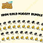 Animal Crossing New Horizons   Iron Gold Nugget Bundle - Materials Bells Items