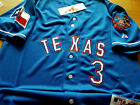 Brand New Texas Rangers 3 Wilson special edition Majestic sewn Jersey Mens