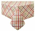 Autumn Gingham Printed Tablecloth - Choice of Sizes