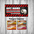 Personalised Chocolate Bar - Self isolation - toilet paper - Fun gift for friend