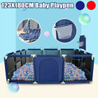 123x180x62cm Baby Fence Play Yard Children Infants Folding Safety Barrier Tent