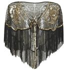 1920s Shawl Wraps Gatsby Beaded Evening Cape Bridal Shawl for Evening Dresses