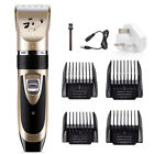 Pet Dog Cat Shave Clipper Hair Low Noise Electric Cordless Grooming Trimming Set