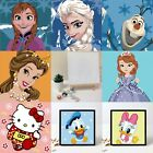 DIY Paint By Number Linen Canvas Craft Artwork for Kids Frozen Anna Elsa Olaf