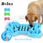 Pet Dog Cat Bowl Healthy Soft Rubber Slow Food Feeder Anti Choke Travel D678