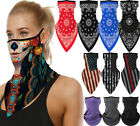 Motorcycle Face Shield Paisley Bandana Tube Head Scarf Neck Gaiter Mouth Cover