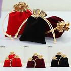 10x Velvet Jewelry Bag Wedding Party Favor Gift Bag Drawstring Pouch Packaging