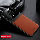 For Xiaomi Redmi Note 9S Luxury Shockproof Leather Silicon Hybrid Case Cover