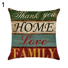 EY_ BU_ ALS_ Vintage Letter Love Life Pillow Cover Cushion Case Home Car Sofa Be