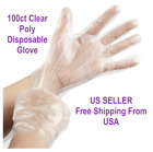 Внешний вид - Choice 100 Count Disposable Food Service Poly Gloves SIZE S/M/L FREE SHIPPING US