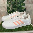 NEW Adidas Girls VL Court 2.0 K Athletic Shoes White Pink Sneakers PICK SIZE