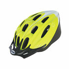 Fluorescent Yellow / White Cycle Helmet - Dial-A-Fit - Unisex Bicycle Helmet