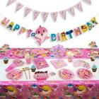 Children's Baby Shark Birthday Party Tableware PINK ,Hats , Banners , cups etc