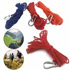 Strong Fishing Magnet Rope Salvage Polyester Tow Rope Guy Canvas With Caribiner